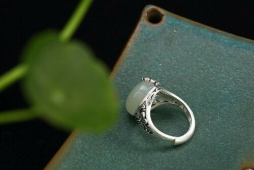 Details about  /Jade Butterfly Ring 990 Sterling Silver Handmade Women Hollow Openable Ring