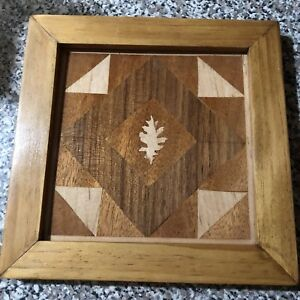 handcrafted-Wood-Inlay-quilt-under-the-oak-with-Oak-Frame-8-x-8-framed