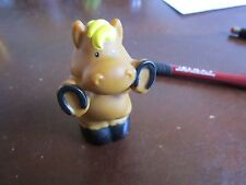 Fisher Price Little People standing horse yellow mane shoes farm barn stable toy