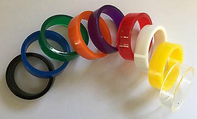 Pinball 2 Large or 1 Mini Translucent High Gloss Super Band Flipper Rubbers