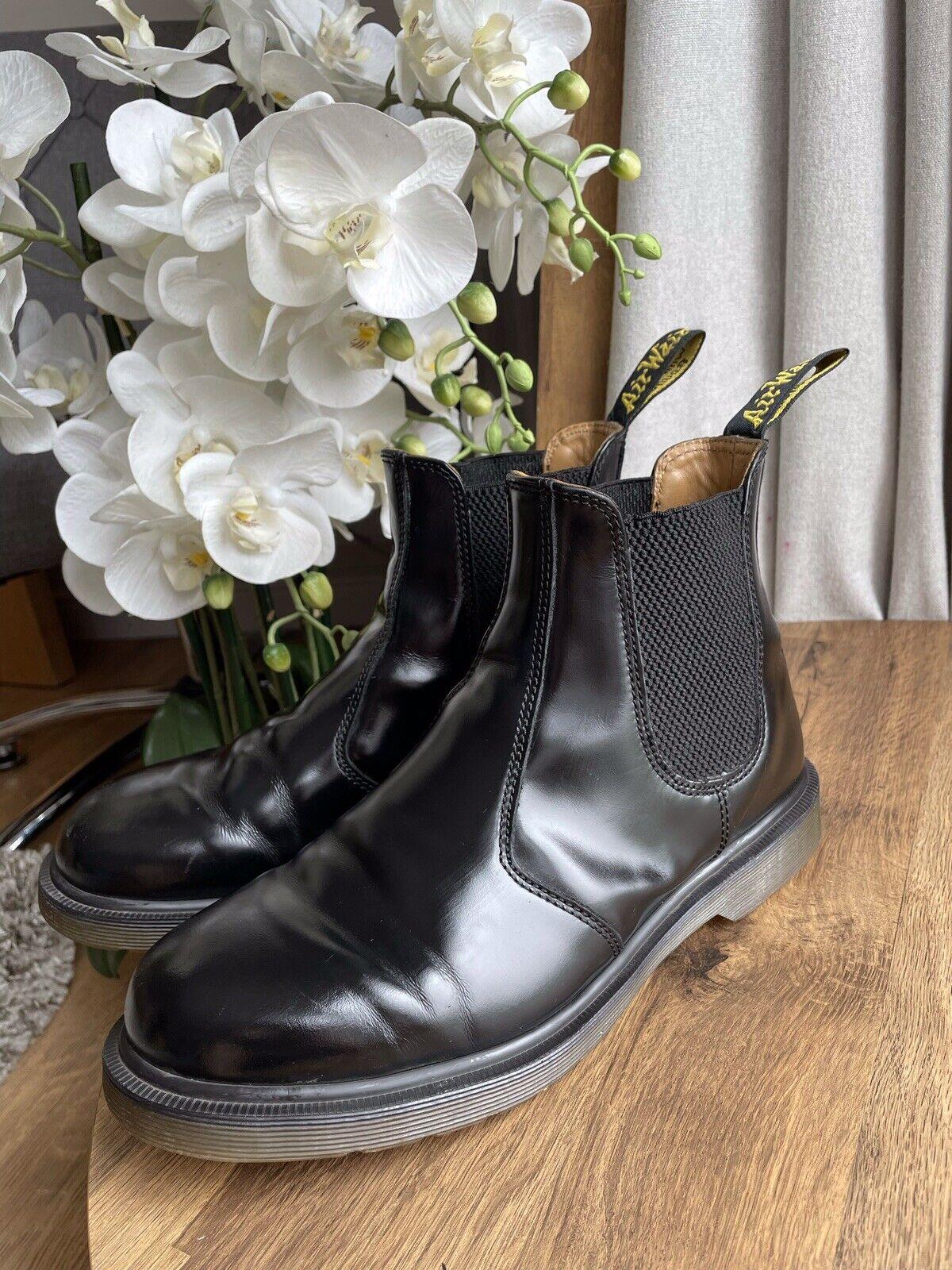 Dr Martens Unisex 2976 Chelsea Black Smooth Leather Boots Size UK 8 EU 42