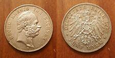 1903 E Saxony (Germany) Large silver 5 Mark, NICE,Scarce