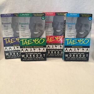 Details about Tae Bo - The Ultimate Total Body Workout Video VHS - Billy  Blanks - 4 VHS set