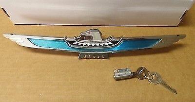 1960 Ford Thunderbird Hardtop New Trunk Lock Cover Bird Emblem Ornament w// Lock