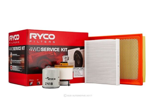 Oil Air Fuel Filter Service Kit Ryco RSK31C Suitable for TOYOTA FORTUNER HILUX G
