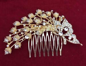 BRIDAL HAIR COMB WEDDING COMBS DIAMANTE VINTAGE SLIDE CLIP TIARA HEADPIECE