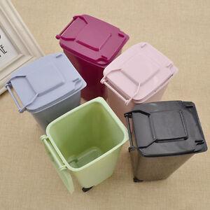 Tischabfalleimer-Muelleimer-Mini-Abfallbehaelter-Blau-Gruen-Schwarz-Pink-Purpurrot