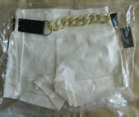 Wet Seal Small Ivory Dress Shorts With Chain Belt Brand Ships Free In Us