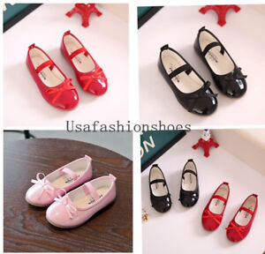 New-Children-Kids-Girls-Single-Shoes-Sweet-Flats-Toddler-Princess-Shoes-Size-5-1