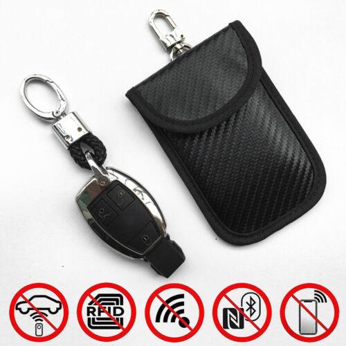 RFID-Autoschlüsselabdeckung Diebstahlschutz Kohlefaser Etui Beutel Praktisch
