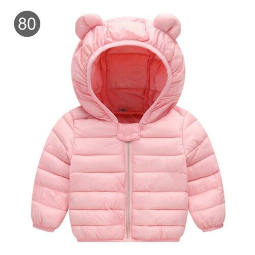 Winter Hooded Coats For Kids Lightweight Down Jacket Comfort Warm Baby Boys Girl