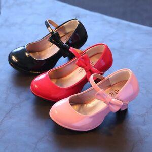 New-Fall-Cute-Children-Girls-Dress-Shoes-Kids-Princess-High-heeled-shoe-Size-9-3