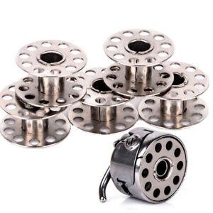 Naehmaschine-Spulenkapsel-Schiffchen-mit-5x-Metall-Spulen-Naehmaschinenspulen-Set