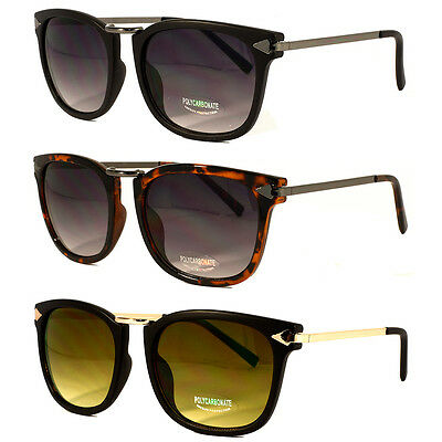New Mens Women Vintage European Fashion Black Sunglasses Classic Trendy Shades