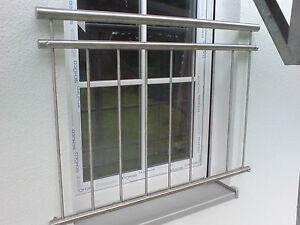 Bekannt Edelstahl Französischer Balkon V2A Fenstergitter Absturzsicherung ZH32
