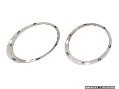 Headlight Trim Ring Jet Black Genuine MINI Set 51132254895KT