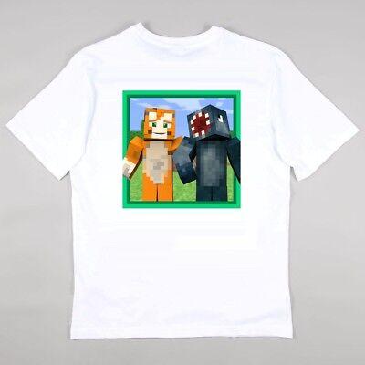 Stampy Cat Stampylongnose /& Squid Childrens Kids Tshirt YouTube Fan