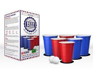 Original Cerveza Pong Kit Rojo Vs Azul Fiesta Juego Con Vasos