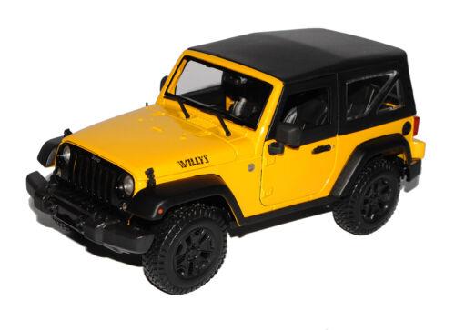 Jeep Wrangler 2014 Willis Gelb JK Ab 2007 1//18 Maisto Modell Auto mit oder ohne