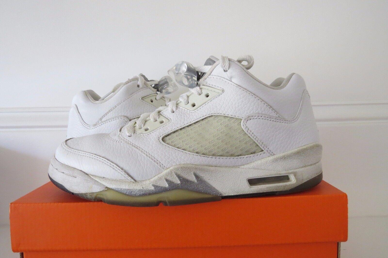Air Jordan 5 Retro Low Metallic Silver White Sz Sz Sz 8 Womens 6.5 mens  314337 101 df238a
