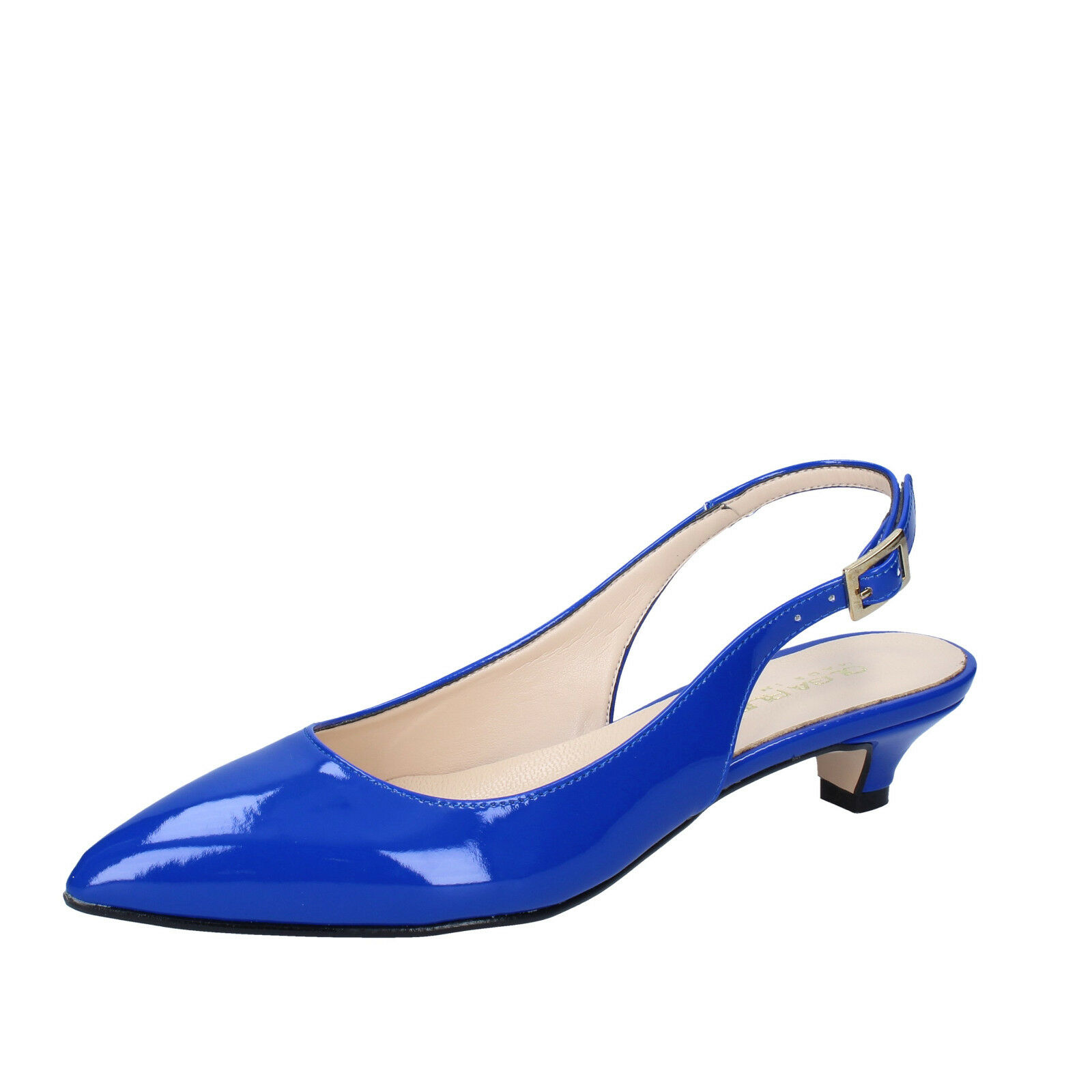 Damen schuhe OLGA RUBINI 38 EU pumps blau lack BY278-38