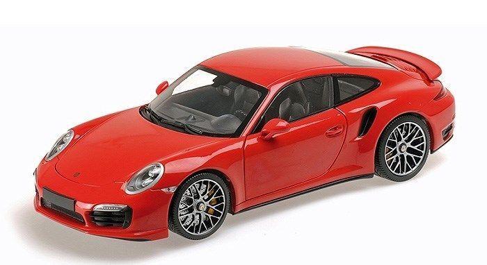 MINICHAMPS 2013 Porsche 911 (991) Turbo S Coupe rouge jaune DISC 1 18New Item