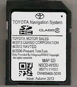 2012 2013 Genuine Toyota Sequoia Tundra Sienna Navigation SD Card Map USA//Canada