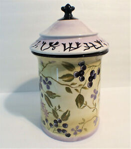Rare-Tracy-Porter-Sage-Tea-Hand-Painted-12-034-Canister