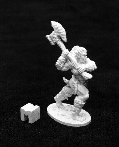 DHL Female Orc Barbarian Warrior Hero Reaper 03939 Jade Fire Champion Axe