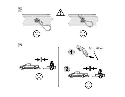 Für Ford F-250 E-150 Anhängerkupplung Adapter US-Fahrzeuge 51x51mm Kugelkopf