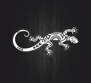 Sticker decal wall car moto biker funny gecko salamander reptile tuning lizard