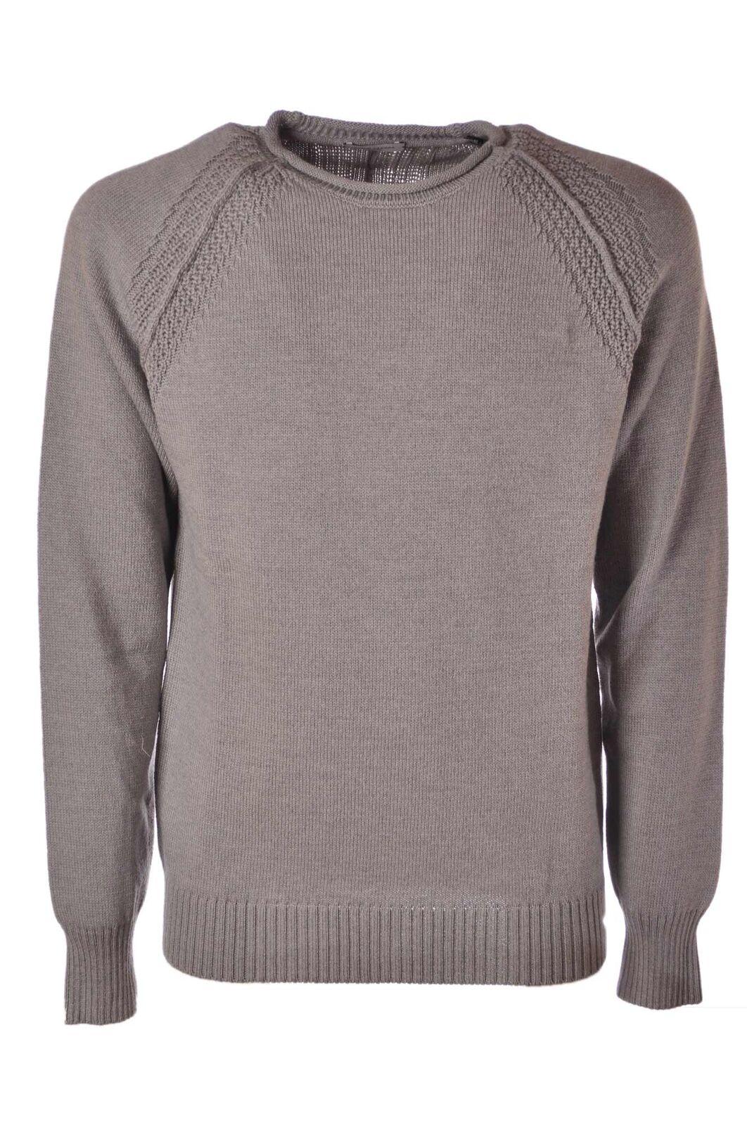 Paolo Pecora - Knitwear-Sweaters - Man - Grau - 4385304E181410
