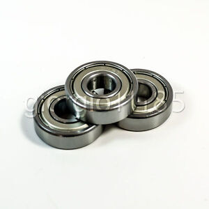 US Stock 10pcs 609ZZ 609-2Z 609Z Double Shielded Ball Bearing 9mm x 24mm x 7mm