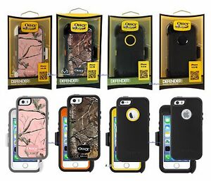 New-OtterBox-Defender-Case-for-iPhone-5S-amp-5-amp-SE-Holster-Works-with-Touch-ID