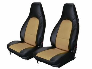 PORSCHE 911 928 944 968 BLACK BEIGE SLEATHER CUSTOM MADE