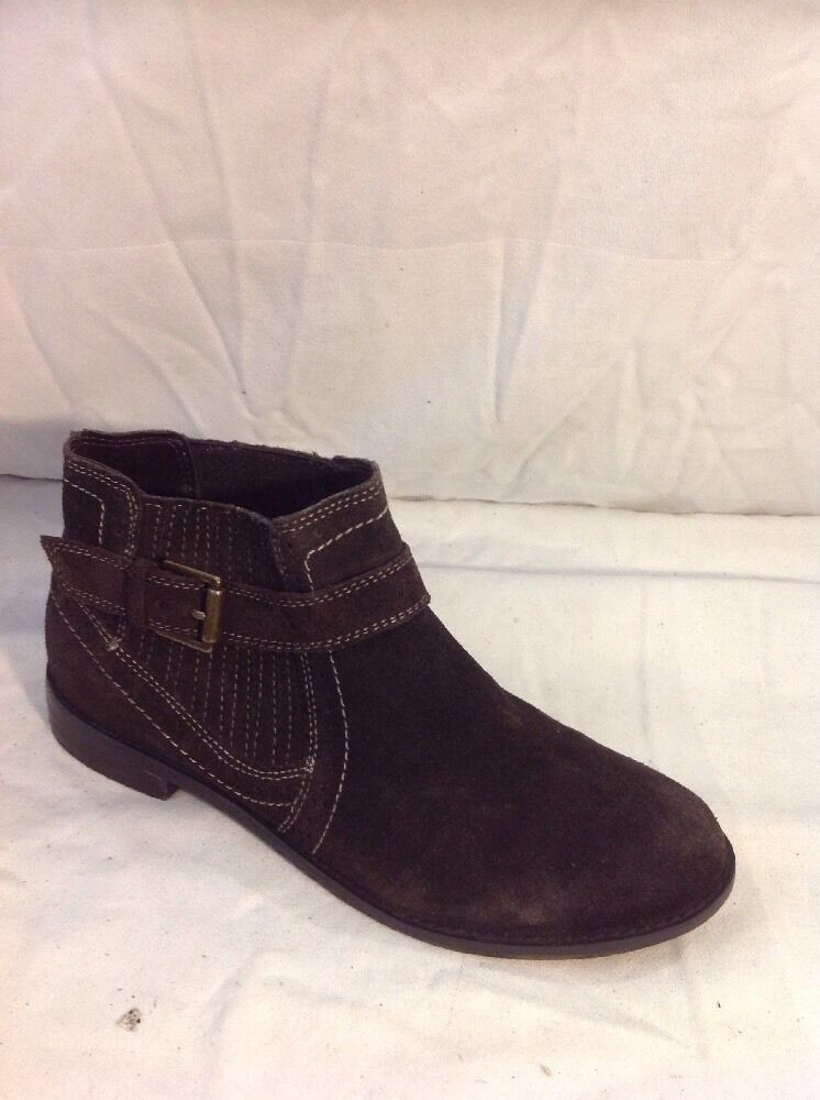 Mantaray Brown Ankle Suede Boots Size 37