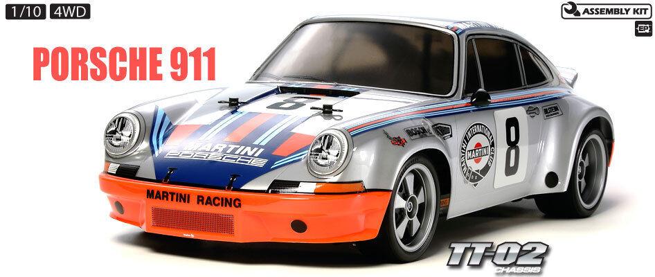 Tamiya 58571 Porsche 911 Carrera RS 4WD RC Kit - DEAL BUNDLE w  STEERWHEEL Radio