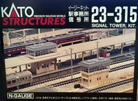 Kato 23-315 N Scale Station & Signal Tower Set on sale