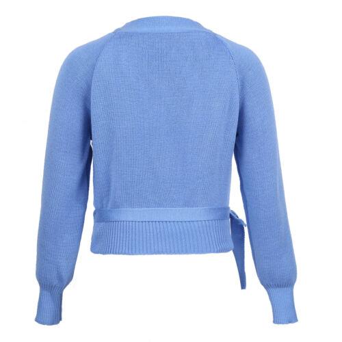 Girls Ballet Dance Dress Cover Up Long Sleeve Wrap Tops Sweater Cardigan Costume