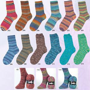 100g-Austermann-Step-4-fach-034-verschiedene-Farben-034-Sockenwolle-Schoeller-Stahl