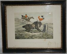 C. 1821 Colored Engraving Humour Prints By Henry Alken &Publisher Thomas M' Lean