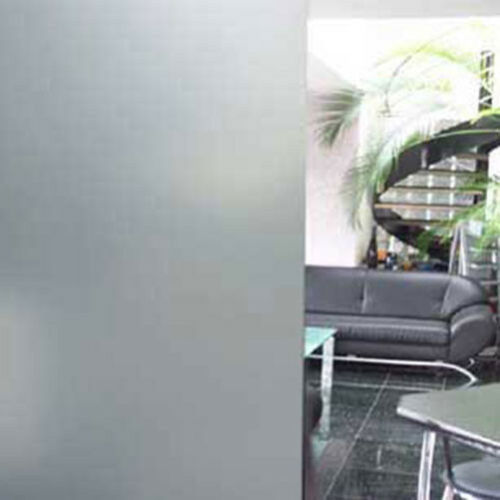 Sichtschutzfolie Opak Weiß Milchglasfolie innen 1,82m x 1m