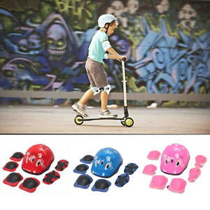 7Pcs-Set-Boys-Girls-Kids-Skate-Cycling-Safety-Helmet-Knee-Elbow-Pad-Kit-E5D4U
