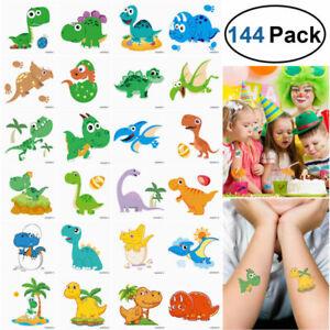 144x-tatuajes-temporales-Unicornio-dinosaurio-Pegatinas-fiesta-provisiones-favores-Kids