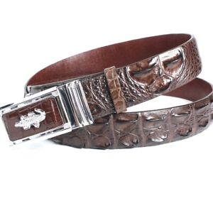 Luxury Brown Genuine Alligator Crocodile Belly Leather SKIN MEN/'S Belt UnJointed