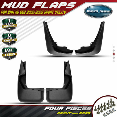 Set of 4 Front and Rear Mud Flaps Splash Guard for 2000-2005 BMW E53 X5