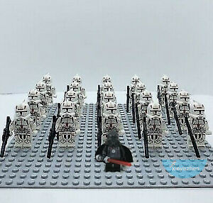 21PCS Star Clone Trooper 327th Star Corps Building Blocks Mini Figure DIY Toys
