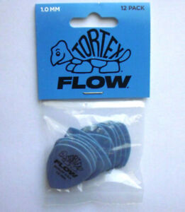 12-Dunlop-Tortex-Flow-Picks-Picks-1-00-mm-Guitar-Pick-Hang-Bag