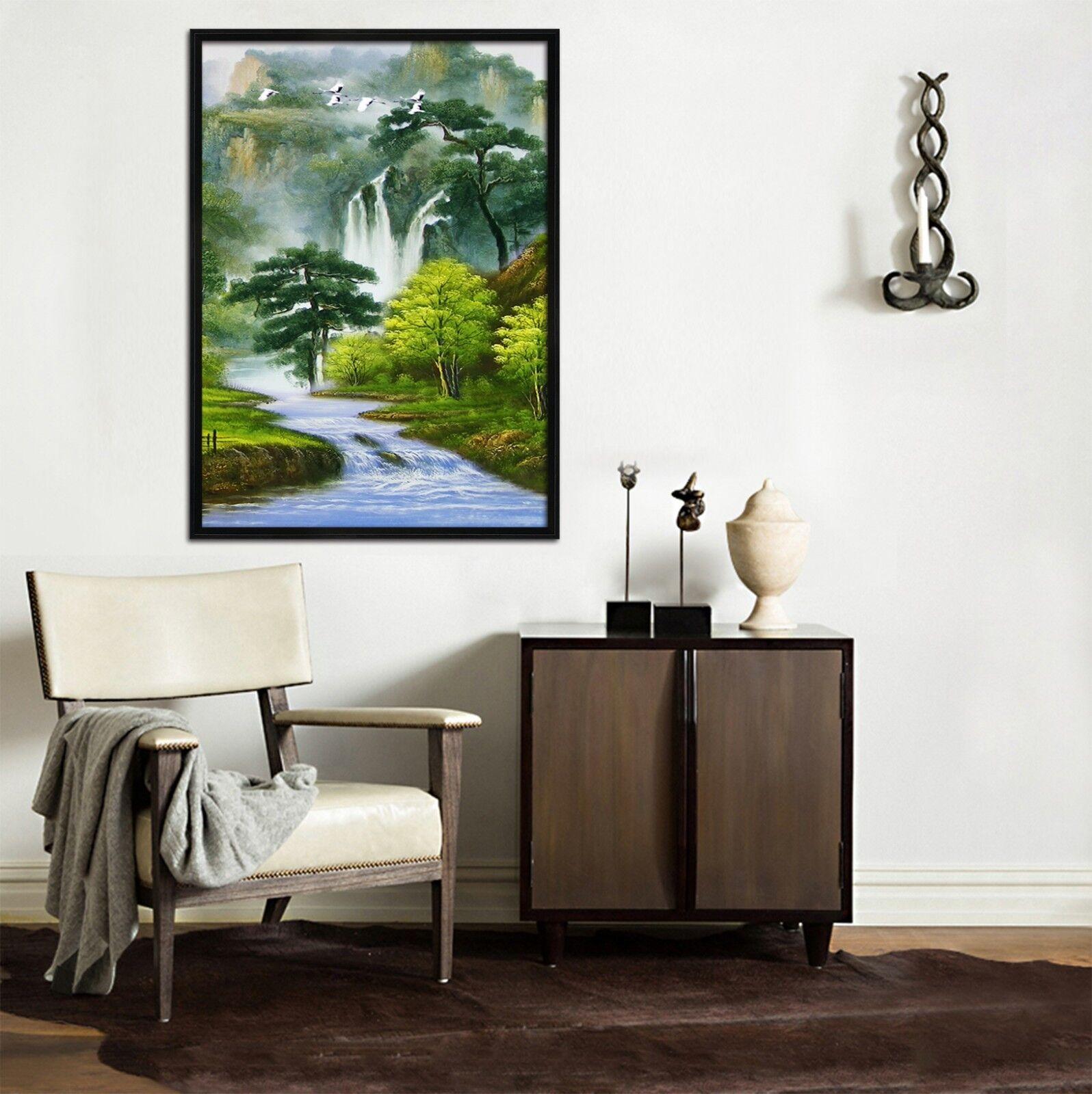 3D Woods Crane 5 Framed Poster Home Decor Print Painting Art AJ UK