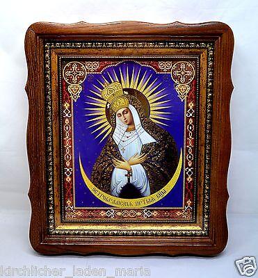 Ikone GM Ostrobrama Богородица Остробрама освящена деревянный киот 30,5x27х4 cm